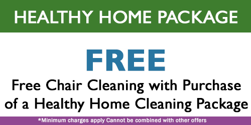 upholstery cleaning healthy home package